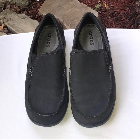 b4d0c7c8283211 CROCS Other - Crocs Black Slip On Loafer Slipper Shoes Men 11